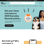 Collect 5000 Everyday Rewards Points on Your First Shop When You Join and Spend $50 @ PetCulture