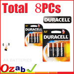 8PCs (2 Pack) Duracell AA Alkaline Batteries $3.40 + $1.98 Shipping