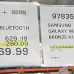 Samsung Galaxy Watch3 41mm Bronze Bluetooth $309.99, Watch3 Black 45mm Bluetooth $369.99 in-Store @ Costco (Membership Required)