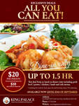 [QLD] All You Can Eat (Within 1.5 Hours), $20 per Adult, $10 per Child @ King's Palace, Broadbeach
