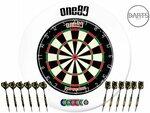 ONE80 12x Premium Brass Darts, Bristle Dartboard, Surround & Accessories Set $189.99 Delivered (Was $264.97) @ Darts Direct
