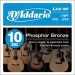 D'Addario 10 Pack Acoustic Strings 12-53 - $54 - FREE POST - Worth $155 - 65% OFF
