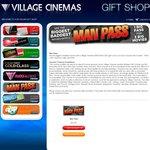 Village Cinemas Man Pass - 3 Movies for $27 (VIC/TAS) 4 Oct - 8 Nov
