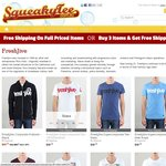60% Off The RRP Of All Remaining Freshjive Stock For Guys At SqueakyTee.com.au