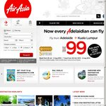 Air Asia X Launch Fares Adelaide to Kuala Lumpur $99 One Way