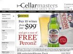 Cellarmasters: Buy 10 wines from just $99 and get a case of Peroni Beer FREE