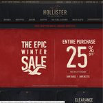 Hollister 25% off Storewide + Free Shipping