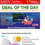 """Weekend Specials AOC IPS 21.5"""" AIO Multi-Touch A2272PWHT $369 @MSY"""