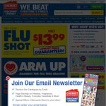 Flu Shot $13.99 @ Chemist Warehouse