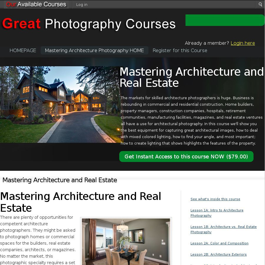 Master Real Estate and Architecture Photography Online