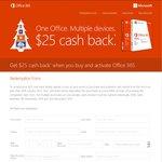 Office 365 $25 Cashback from Microsoft AU