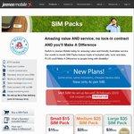 Jeenee Mobile Deal: Free Setup for All SIM Packs - Sharp BYO Pricing