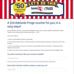 $50 Adelaide Fringe Voucher after Signing up for Bank SA Account ($5 monthly fee)