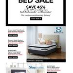 45% off RRP of Beds by Sealy Posturepedic and Sleepmaker David Jones