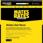 $10 Welcome Coupon to Spend Online ($50 Min Spend) - Dick Smith Mates Rates Rewards Program