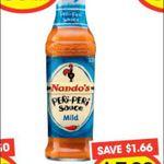 Nando's Peri Peri Sauce Varieties 125ml $1.99 (Save $1.66) @ Ritchies IGA VIC