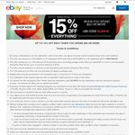 eBay 15% off Sitewide Offer (Min Spend $50, Max Discount $100)