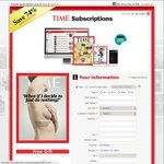 TIME Magazine Subscription up to 74% off, $1.80 Per Issue plus FREE GIFT Cooler Bag Set