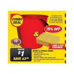 SCA Bucket & Sponge Combo $1 (Save $3.68) @ Supercheap Auto