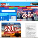 $20 off Tigerair on BYOjet When Paying with PayPal