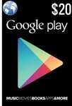 Google Play Credit 20% off - $20 for $16 - Shipped @ Phonebot