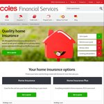 Coles: 35% off When You Buy Coles Home and Contents Insurance or 20% When Only Contents