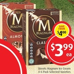 50% off Streets Magnum Ice Cream 4-6 Pack $3.99, Heinz Condensed Soup 420g $1.10, Campbell's Soups 495-505g $1.64 @ Foodworks