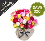 Country Rose Posy (30 Roses), Now $49.95 (Save $20) @ Freshflowers.com.au, NSW Metro Only