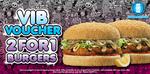 2 for 1 Burgers at Burger Fuel [Bris, GC, Syd]
