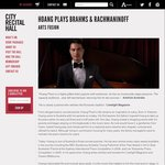 $19 Hoang Pham Classical Piano Recital @ City Recital Hall Sydney 16/10/2016
