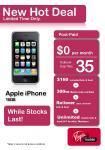 AGAIN! iPhone 16G 3GS Free on Virgin 35 Rollover Cap!