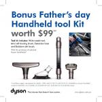 Dyson Handheld DC30, DC31 and DC31 Motorhead - free $99 Accessories pack.