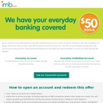 Get $50 for Opening an Everyday Account with IMB (Must Have Entered Win a Mini Competition)