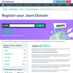 96% off .store Domains, $2.99 USD (~$4 AUD) @ Only Domains
