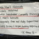 Free Men's Haircut @ K Three G Hair [Perth Northbridge]