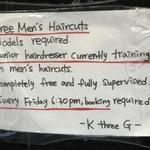 Free Men's Haircut @ K Three G Hair [Perth Northbridge]
