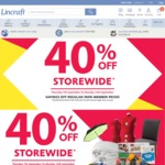 Lincraft 40% off Everything in Store and Online