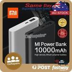 Xiaomi Power Bank 2 10000mAh Quick Charger Battery (2 Pcs) - $46.24 ($23.12ea) Delivered from Sydney @ mobilemall_com_au on eBay