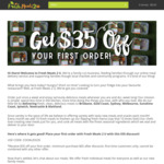 $35 off First Order @ FreshMeals2U Ready Meals (Min Spend $65) SYD/MEL/BRIS/GOLDCOAST