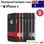 Hybrid Shockproof Armor Heavy Duty Bumper iPhone X Cover Case $9.99 Delivered (RRP $19.99) @ Ozsupplycentre