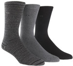 CALVIN KLEIN 3pk Combed Flat Knit Sock & Geometric Dress Socks 3pk $9 Each (3pk) Multi Color Only (was $39.95) C&C @ David Jones