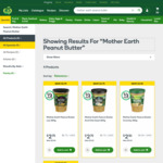 ½ Price Mother Earth Peanut Butter 380g - $2.50 @ Woolworths