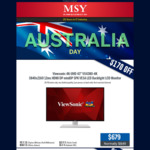 "MSY - Australia Day Special ViewSonic 4k 43"" $679, Curved 32"" 1080p $399 & Other Sales"