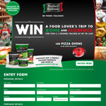 Win a Trip to Italy for 4 Worth $35,000 +/- 1 of 140 New Wave Pizza Ovens from Fonterra Brands [Purchase Perfect Italiano]