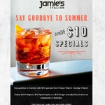 $10 Negroni, $10 Aperol Spritz or a $10 Burgers @ Jamie's Italian (2-4 March)