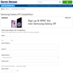Win a Samsung Galaxy S9 Worth $1,199 from Harvey Norman