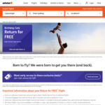 Jetstar Birthday Sale - Return for Free Fares (MEL > SGN $259) (SYD > HKT $319) Return (Public Access Now On)