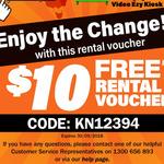 Video Ezy $10 Movie Rental Voucher