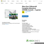 Xbox One S Minecraft Complete Adventure (500GB) Console, 4 Games & 3-Month Xbox Live Gold Trial $299 OR $284.05 eBay @ Microsoft