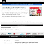 Double Velocity Points at Any AU & NZ TFE Hotels